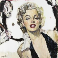 $10,000.00 Marilyn: Forever Fabulous : Oil : Sunny Choi....Sex appear that evades time!!!!!