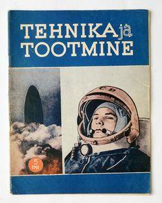 1961 Russia Yuri Gagarin Space Flight COVER Technical Magazine.