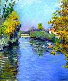 Small Arm of the Seine, Autumn Effect Gustave Caillebotte - 1890