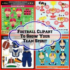 Football Clipart To Show Your Team Spirit...