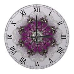 http://www.zazzle.com/regal_shades_kaleidoscope_clock-256700729625409349?rf=238739306683447883  Regal Shades Kaleidoscope Clock