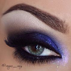 Love the touch of sparkle over the purple!