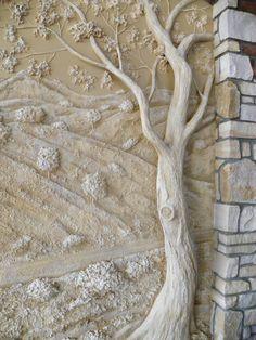 Inspiration - Joint Compound wall sculpture... Fabulous!