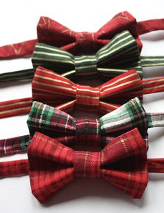 Little and Big Guy BOW TIE  Holiday Winter  Lavish Christmas