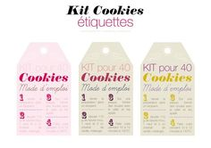 Etiquettes kit cookies à réaliser soi même Kit Cookies, Xmas Crafts, Diy And Crafts, Cooking Cookies, Gourmet Gifts, Cookie Jars, Sweet Life, Diy Kits, Diy Paper