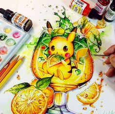 Want to discover art related to pikachu? Check out inspiring examples of pikachu artwork on DeviantArt, and get inspired by our community of talented artists. Kawaii Drawings, Art Drawings Sketches, Disney Drawings, Animal Drawings, Cute Drawings, Marker Kunst, Marker Art, Amazing Drawings, Amazing Art