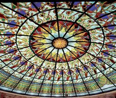The Temples of Damanhur (Valchiusella/ Italy). The giant glass dome of the Hall of Mirrors.