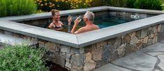 Backyard Pool Designs, Small Backyard Pools, Small Pools, Swimming Pools Backyard, Swimming Pool Designs, Pool Landscaping, Pool Spa, Backyard Patio, Lap Pools