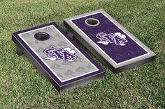 Stephen F. Austin State University Lumberjacks Repeat Logo Wallpaper Cornhole Set