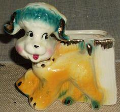 Ceramic Fashions by OPCO Ohio Pottery Company Dog Planter Gentle Use  $19.99 ebay
