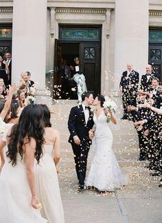 petal toss! | Brett Heidebrecht Wedding Exits, Wedding Goals, Wedding Ceremony, Wedding Photos, Dream Wedding, Gold Wedding, Best Wedding Colors, Wedding Styles, Southern Weddings