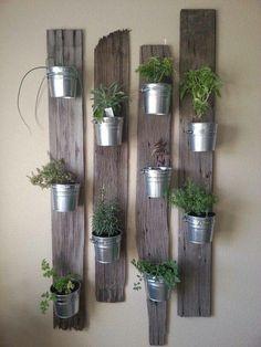 Wall herb garden #gardening