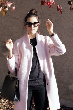 Winter Pastels, Rose Pastel, Coat, Projects, How To Wear, Jackets, Fashion, Log Projects, Down Jackets