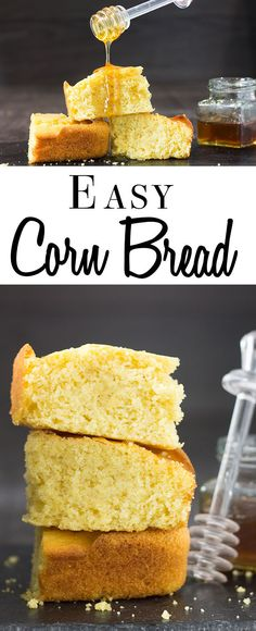 Easy Cornbread - Erren's Kitchen - This Easy recipe is made in one bowl and uses fine cornmeal cutting out the need to soak the the batter. The result is a light and moist cornbread that's simply divine.