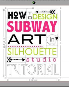Secret to Easily Designing Subway Art in Silhouette Studio ~ Silhouette School