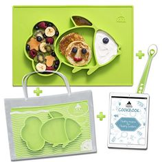 Find amazing Cool Panda Premium Silicone Feeding Placemat for Babies, Reusable Travel Bag, Spoon and Healthy Recipes Ebook Included, Large Size: - Green panda gifts for your panda lover. Cool Panda, Baby Aspen, Panda Gifts, Baby Jumpsuit, 9th Month, Long Sleeve Bodysuit, Travel Bag, 6 Months, Black White