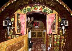 Inside a Gypsy Wagons   Gypsy Romany museum: Romany Gypsy collection