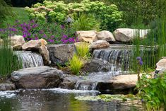 Berks County, PA Pond & Waterfalls traditional landscape