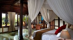 Dream away in your four poster bed at MesaStila...