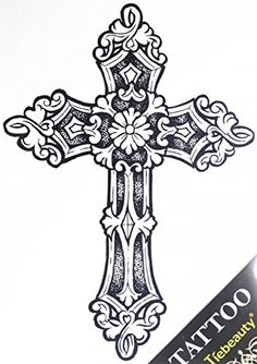 "GGSELL GGSELL tattoo size 21.5CM x 30.5 CM(8.46x12"") non toxic and waterproof hot selling fashionable large Cross fake temporary tattoo stickers for men"" GGSELL http://www.amazon.com/dp/B00MNCR8JY/ref=cm_sw_r_pi_dp_NNRUvb1DZCR49"