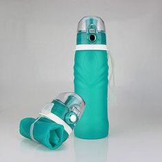 Outdoor Sports Equipment Collapsible Silicone Water Bottle; Portable BPA Free Folding Travel Bottle