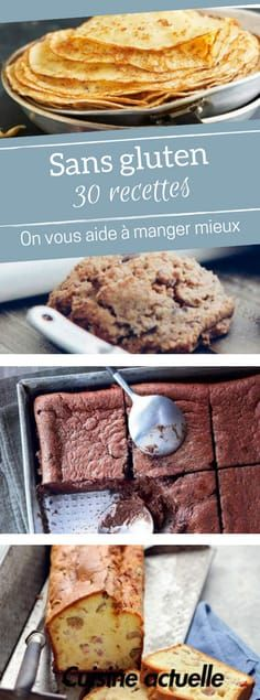30 idées de recettes sans gluten - gluten free - no glu Easy Gluten Free Desserts, Gluten Free Cakes, Easy Desserts, Gluten Free Recipes, Dessert Recipes, Diet Recipes, Cake Recipes, Dessert Healthy, Gourmet Recipes