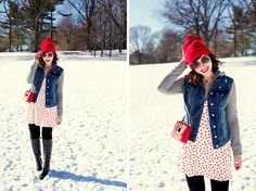 cute look, but i KNOW she's cold...[New York] City Guide: Our Favorite Brooklyn Date Spots