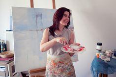 Ilona Herc, painter from Krakow, Poland.  Fot. Elżbieta Oracz