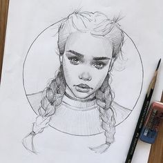 Girl sketch, sketches of people, sketches of faces, drawing sketches, sketc Pencil Art, Pencil Drawings, Art Drawings, Sweet Drawings, Pencil Sketching, Drawing Faces, Realistic Drawings, Beautiful Drawings, Sketches Of People