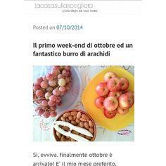 Ricetta del burro di arachidi sul blog! www.lacasasullascoglierawordpress.com