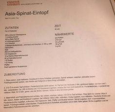 Asia Spinat Eintopf  (Suppe)   geht auch gut mit gambas