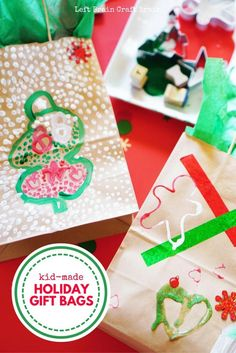 a festive process art project turns into a wonderful gift with these kid made holiday