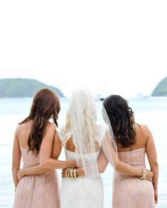You and your maid of honors :) i have younger twin sisters, who i want to be my maid of honors, i would love this photo with them!!! <3