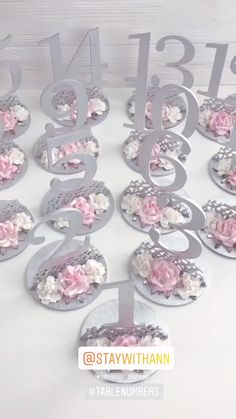 Silver Table Numbers Wedding Silver and Blush Pink Wedding Decor Elegant Table Decor Wooden Table Numbers Wedding Decorations Custom Colors tablenumbers weddingdecor elegantwedding silverwedding Wooden Table Numbers, Wedding Table Numbers, Table Wedding, Wedding Shot, Wedding Dj, Wedding Gowns, Silver Wedding Decorations, Purple And Silver Wedding, Silver Table