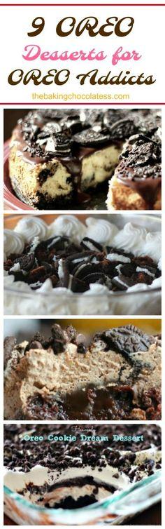 9 OREO Desserts for OREO Addicts via @https://www.pinterest.com/BaknChocolaTess/