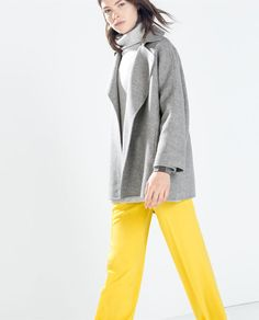 ZARA - WOMAN - HAND MADE DOUBLE-BREASTED COAT