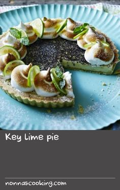 Key lime pie |      Ryan's take on key lime pie received great praise on The Great British Bake Off. Try it for yourself.