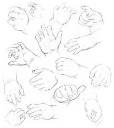 bleistiftzeichnung how to draw baby hands - drawing hands of babies Arm Drawing, Anatomy Drawing, Drawing For Kids, Figure Drawing, Drawing Sketches, Drawing Hands, Drawings Of Children, Drawings Of Hands, Hand Drawings