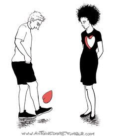 Broken heart gif series, fixed and refreshed! by Antoine Doré Heart Art, My Heart, Heart Broken, Lonely Heart, Heartbroken Drawings, Coeur Gif, Corazones Gif, Es Der Clown, Tumblr Facebook