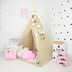 Teepee Set Kids Play Tent Tipi Kid Play Teepee by MamaPotrafi