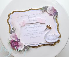 Swan Lake Princess Birthday Invitation