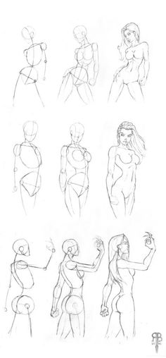 female body shapes - how to draw a Woman - Anatomy - drawing Reference Body Sketches, Drawing Sketches, Art Drawings, Sketching, Figure Drawings, Drawing Poses, Painting & Drawing, Drawing Tips, Drawing Lessons