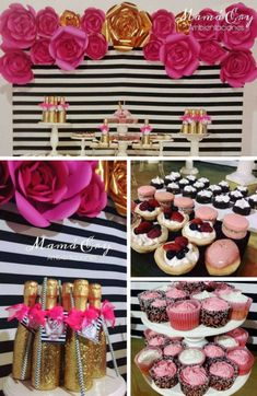 Kate Spade Birthday Inspirations - Birthday Party Ideas for Kids and Adults Classy Birthday Party, 25th Birthday Parties, Birthday Party At Home, Outdoor Birthday, Fabulous Birthday, Birthday Gifts For Girls, Birthday Ideas, Kate Spade Party, Party Ideas