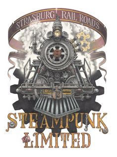 Steampunk unLimited at Strasburg Rail Road on November 16 & 17 2013.  Artwork by Richard Huck