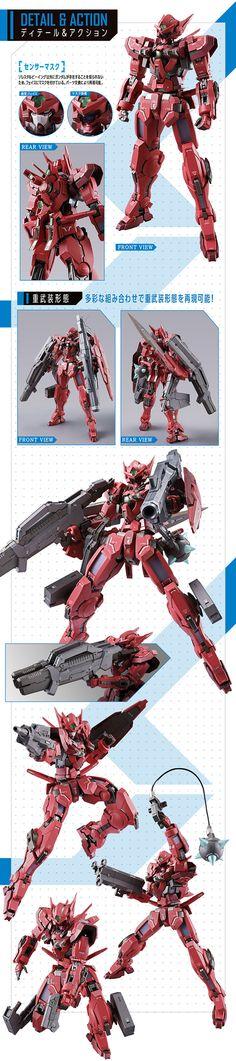 P-Bandai METALBUILD 1/100 GUNDAM ASTRAEA TYPE-F (GN HEAVY WEAPON SET): A LOT of Official Images, Info Release http://www.gunjap.net/site/?p=329009