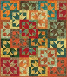 FREE PATTERN Timeless Treasures Tonga Punch – Floating Stars by Osie Lebowitz