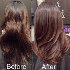 From uneven colored hair to beautiful natural wood tones ombre