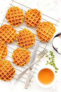 Gluten-free Pumpkin Waffles. ѼCQ #glutenfree #pumpkins