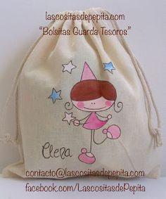 Las cositas de Pepita T Shirt Painting, Fabric Painting, Purse Tutorial, Fashion Painting, Baby Art, Kids Bags, Cute Bags, Cotton Bag, Hand Quilting