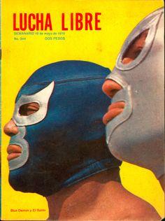 Blue Demon y El Santo from 'Lucha Libre' magazine 1970